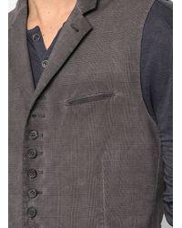 John Varvatos | Brown Notch Lapel Vest for Men | Lyst