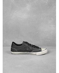 John Varvatos - Black 315 Raw Edge Sneaker for Men - Lyst