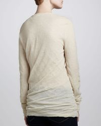 Michael Kors - White Biascut Crewneck Sweater - Lyst