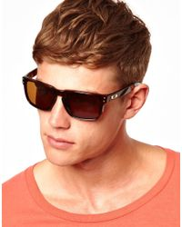 3ddb9fbef8 ASOS Holbrook Sunglasses in Brown for Men - Lyst