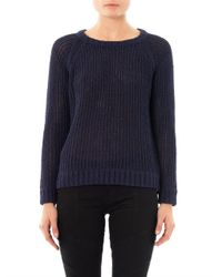 Rag & Bone | Blue Kendall Cotton Sweater | Lyst
