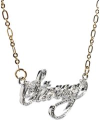 Stussy | Metallic Name Plate Necklace | Lyst