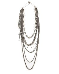 Tom Binns | Metallic Layered Chain Necklace | Lyst