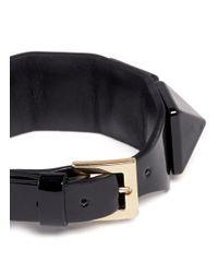 Valentino | Black 'rockstud' Macro Patent Leather Bracelet | Lyst