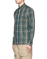 Maison Kitsuné | Blue Worker Check Shirt for Men | Lyst