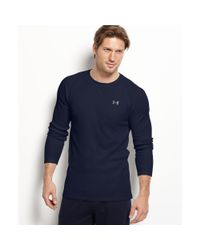 Under Armour | Blue Waffle Thermal Top for Men | Lyst
