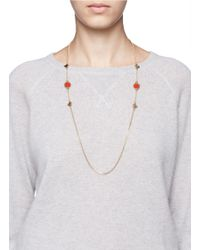 Marc By Marc Jacobs - Red Bird Motif Long Medley Necklace - Lyst