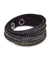 Swarovski | Black Slake Metallic Bracelet | Lyst