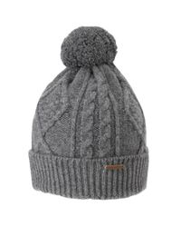 Ted Baker Cable Knit Hat in Gray for Men - Lyst 1df45e8fe9c0