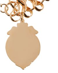 Monki - Metallic Asos Curve Exclusive Shield Chain Bracelet - Lyst