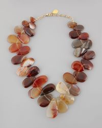 Devon Leigh - Brown Freeform Carnelian Updown Chunky Necklace - Lyst