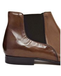 ASOS - Brown Leather Chelsea Boots - Lyst