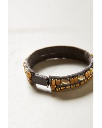 Anthropologie - Gray Sliced Abruzzo Bracelet - Lyst