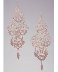 Bebe | Metallic Statement Filigree Earrings | Lyst