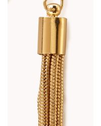 Forever 21 - Metallic Luxe Tassel Earrings - Lyst