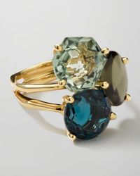 Ippolita | Metallic 18K Gold Rock Candy Gelato 3-Stone Cluster Ring | Lyst