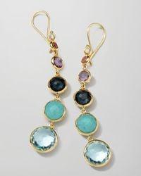 Ippolita   Metallic 18K Gold Rock Candy Lollitini Earrings In Multi   Lyst