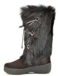 Pajar - Brown Fur Boot - Lyst