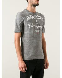 DSquared² - Gray Champagne Tshirt for Men - Lyst