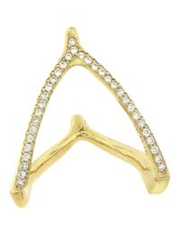 Jennifer Meyer | Metallic Wishbone Ring | Lyst