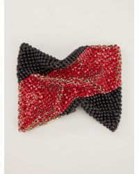 Laura B | Red Crystal and Beaded Bracelet | Lyst