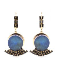 Marni | Blue Crystalembellished Horn Earrings | Lyst
