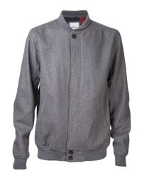 Saturdays NYC - Gray Goose Bomber Jacket for Men - Lyst