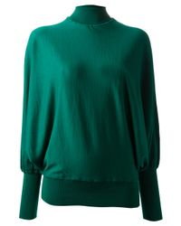Vionnet - Green Keyhole Turtleneck Sweater - Lyst