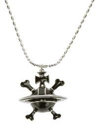 Vivienne Westwood - Black Orb Pendant Necklace - Lyst
