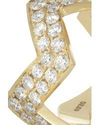 Anita Ko - Metallic Zig Zag 18karat Gold Diamond Ring - Lyst