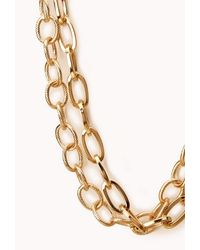 Forever 21 - Metallic Classic Layered Rolo Necklace - Lyst