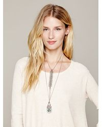 Free People - Metallic Exaggerated Bib Necklace - Lyst