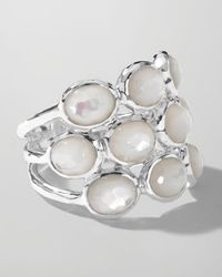 Ippolita - Metallic Sterling Silver Rock Candy 3row Ring in Motherofpearl - Lyst