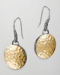 John Hardy | Metallic Palu Gold-plate/silver Round Drop Earrings | Lyst