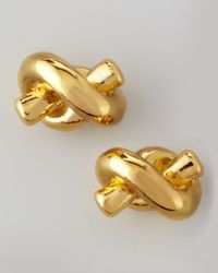 kate spade new york | Metallic Sailor's Knot Stud Earrings | Lyst