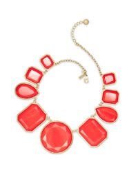 kate spade new york - Red Swirl Around Graduated Necklace - Lyst
