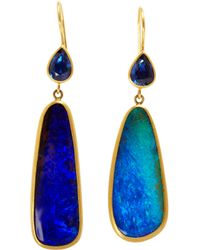 Marie-hélène De Taillac - Blue Sapphire Boulder Opal Bonbon Earrings - Lyst