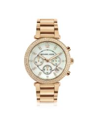 Michael Kors | Pink Glitz-Top Chronograph Watch | Lyst