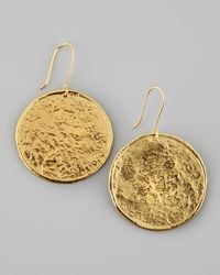 Nest | Metallic Hammered 22k Gold-plate Medallion Earrings | Lyst
