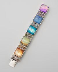 Stephen Dweck | Multicolor Multistone Link Bracelet | Lyst
