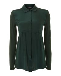Weekend by Maxmara | Green Ercole Peplum Blouse | Lyst