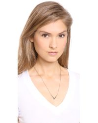 Campbell - Metallic Small V Chain Necklace - Lyst