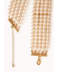 Forever 21 - White Iconic Faux Pearl Choker - Lyst