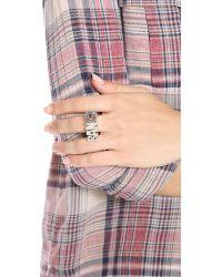 Noir Jewelry - Metallic Bang Ring - Lyst