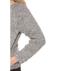 Swildens - Gray Jully Chunky Knit Bomber - Lyst