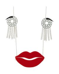 Tatty Devine - Metallic Avant Garde Robot Face Necklace - Lyst