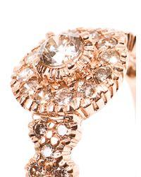 Zoe & Morgan | Pink Princess Diamond and Rose Gold Ring | Lyst