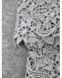 Ermanno Scervino - Gray Lace Scarf - Lyst