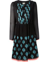 INTROPIA - Blue Printed Dress - Lyst