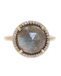 Irene Neuwirth | Gray Rose Cut Labradorite Ring | Lyst